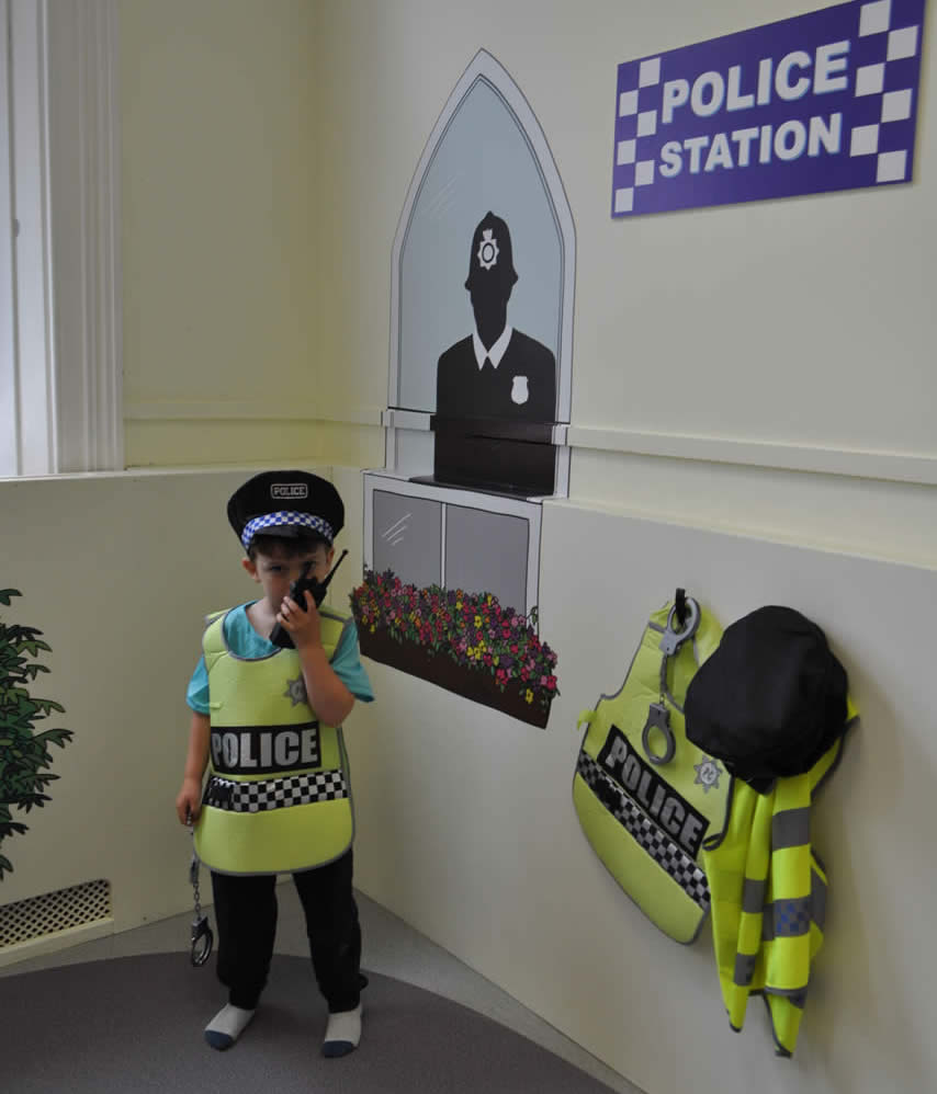 Police Officer, Police costume, police officer play, Little Street, Little Street Play Centre, Play Centre, Children Play Centre, UK play centre, children, childrens entertainment
